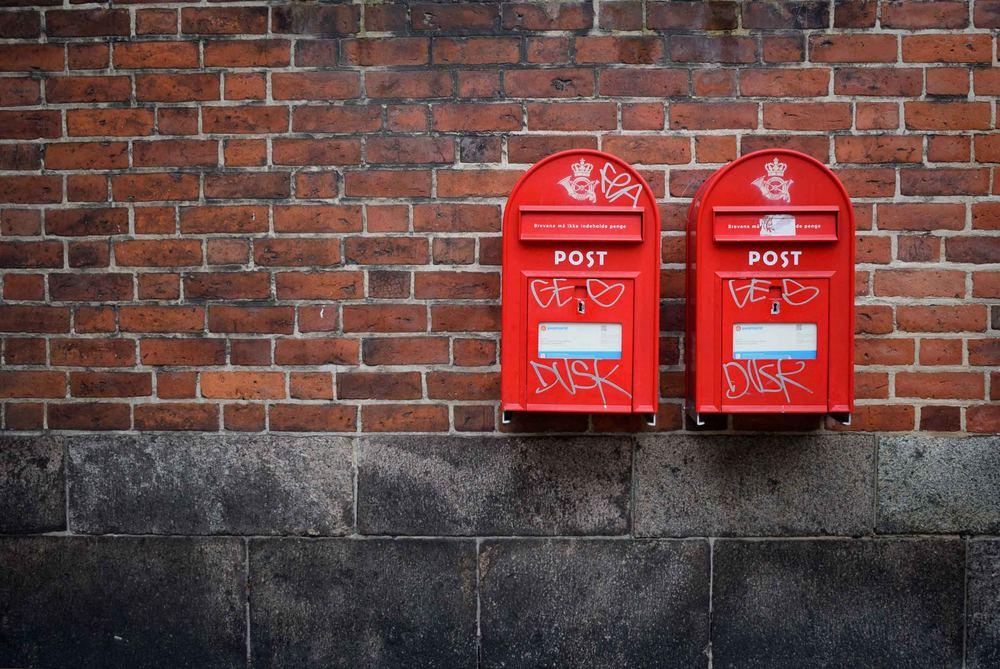 Pryd brevlådan med wallstickers